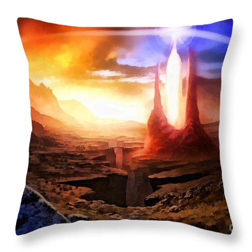 Fantasia Throw Pillow featuring the digital art Fantasia by Mo T