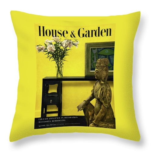 Photograph Throw Pillow featuring the photograph Far-east Influenced Decoration by Haanel Cassidy
