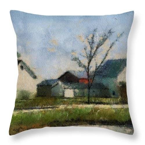 Agriculture Throw Pillow featuring the photograph Farm 03 Photo Art by Thomas Woolworth
