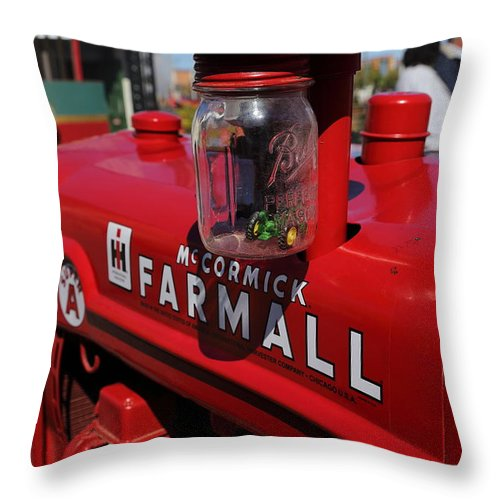 Tractor Throw Pillow featuring the photograph Farmall by Pat Williams