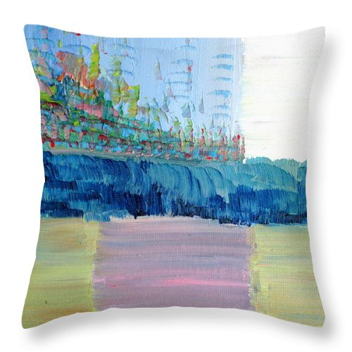 Farmed Throw Pillow featuring the painting Farmed Land by Fabrizio Cassetta
