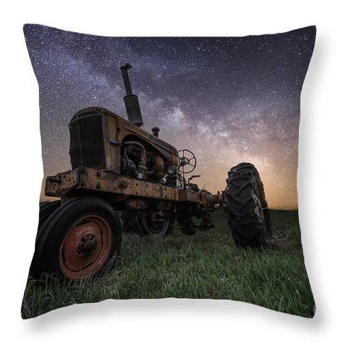 Milky Way Throw Pillow featuring the photograph Farming The Rift 4 by Aaron J Groen