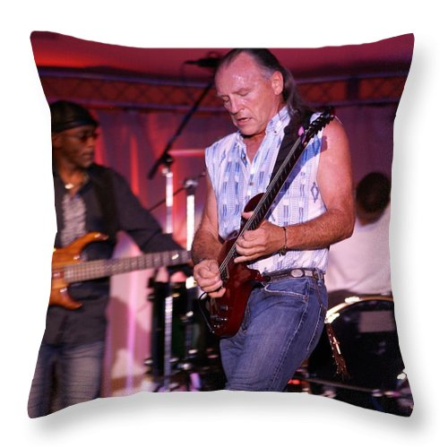 Mark Farner Throw Pillow featuring the photograph Farner #12 by Ben Upham