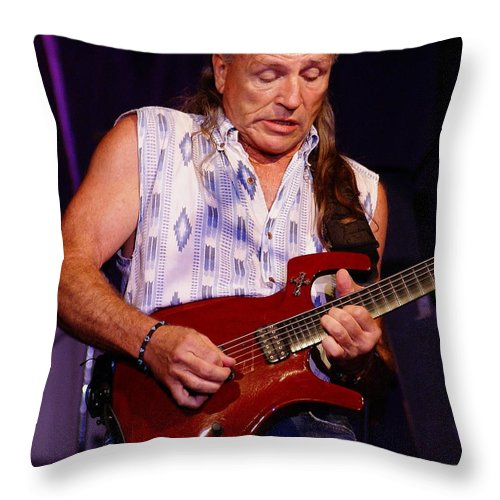 Mark Farner Throw Pillow featuring the photograph Farner #14 by Ben Upham