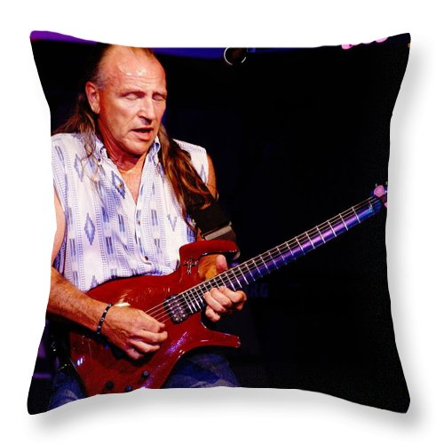 Mark Farner Throw Pillow featuring the photograph Farner #16 by Ben Upham