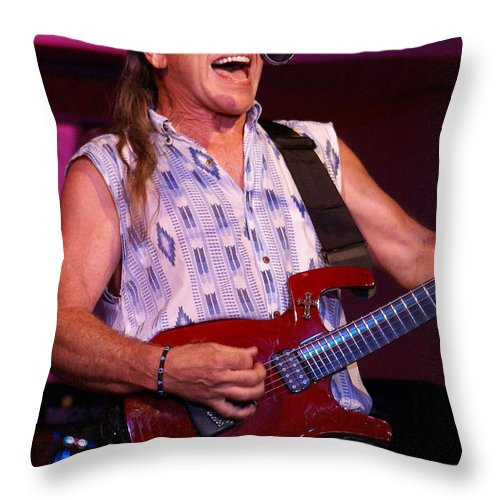 Mark Farner Throw Pillow featuring the photograph Farner #27 by Ben Upham
