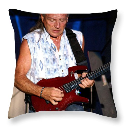 Mark Farner Throw Pillow featuring the photograph Farner #9 by Ben Upham