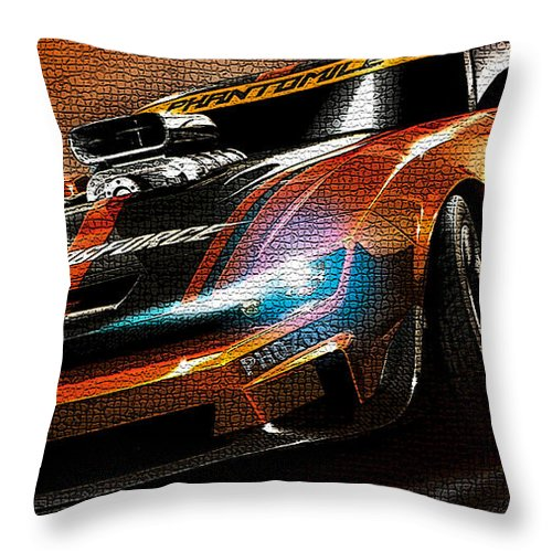 Fast Car Throw Pillow featuring the digital art Fast Car Painting by Marvin Blaine