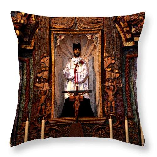 Religious Throw Pillow featuring the photograph Father Kino by Joe Kozlowski