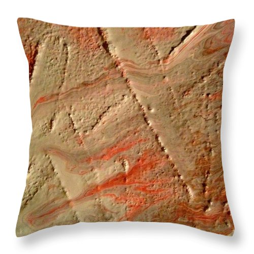 Abstract Throw Pillow featuring the painting Fault Lines by Allegra Michaels