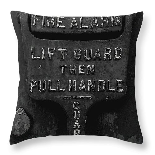 Fdny Throw Pillow featuring the photograph Fdny - Alarm by James Aiken