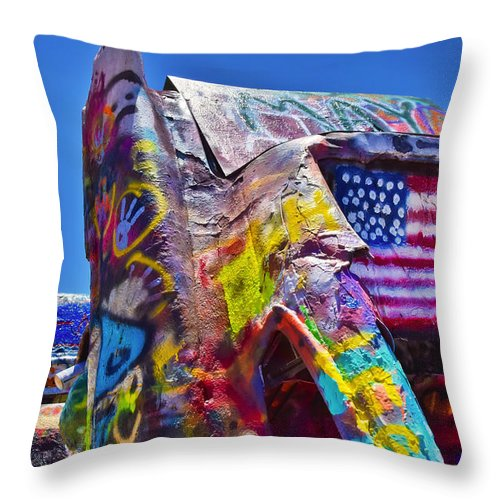Fear And Loathing Throw Pillow featuring the photograph Fear And Loathing by Skip Hunt