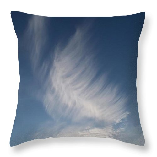 Angel Throw Pillow featuring the photograph Feather Cloud By Diane Schiabor by Eric Schiabor