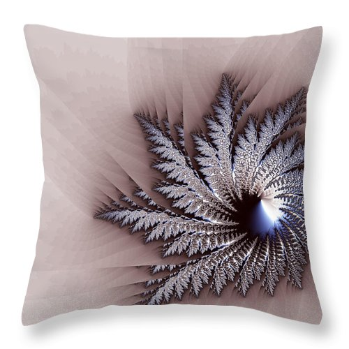 Galaxy Throw Pillow featuring the digital art Feather Mask by Brian Haythorn