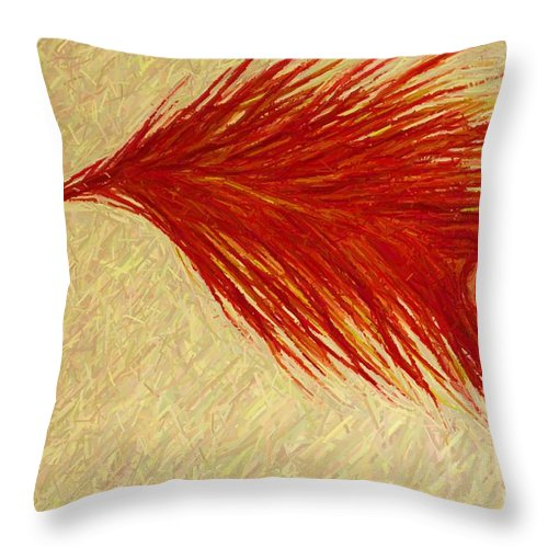 Feather Throw Pillow featuring the painting Feather by Melinda Etzold