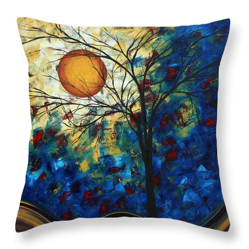 Decorative Throw Pillow featuring the painting Feel The Sensation By Madart by Megan Duncanson