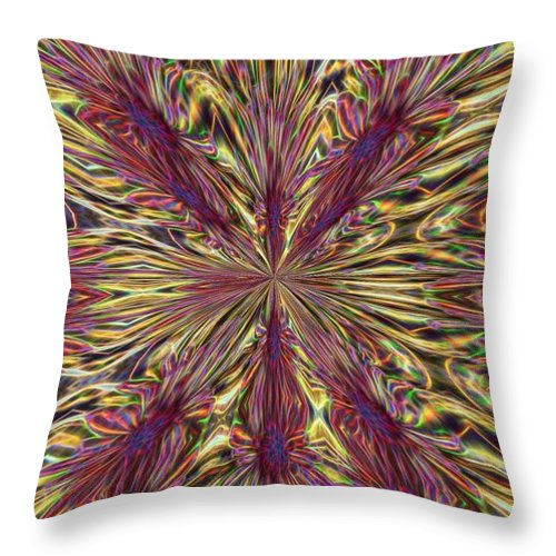 Kaleidoscope Throw Pillow featuring the photograph Feeling Groovy No. 3 by Brenda Hackett
