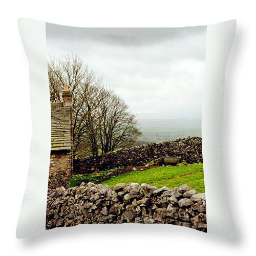 Houses Throw Pillow featuring the photograph Fenced In by Jennifer Robin