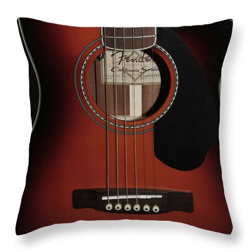 Fender Throw Pillow featuring the photograph Fender by Linda Sannuti