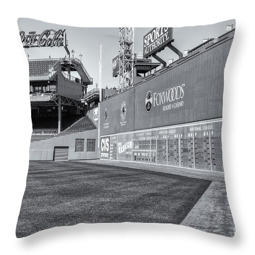 Clarence Holmes Throw Pillow featuring the photograph Fenway Park Green Monster II by Clarence Holmes