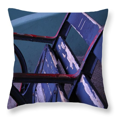 Fenway Throw Pillow featuring the photograph Fenway Park Third Base Seat by Brian Hoover