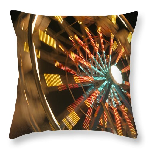 Activity Throw Pillow featuring the photograph Ferris Wheel by Brandon Tabiolo