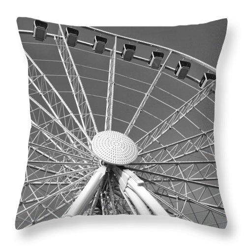 Ferris Wheel Throw Pillow featuring the photograph Ferris Wheel by Seth Solesbee