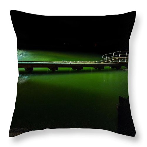 Guantanamo Bay Throw Pillow featuring the photograph Ferry Landing 19 by Christian Schroeder