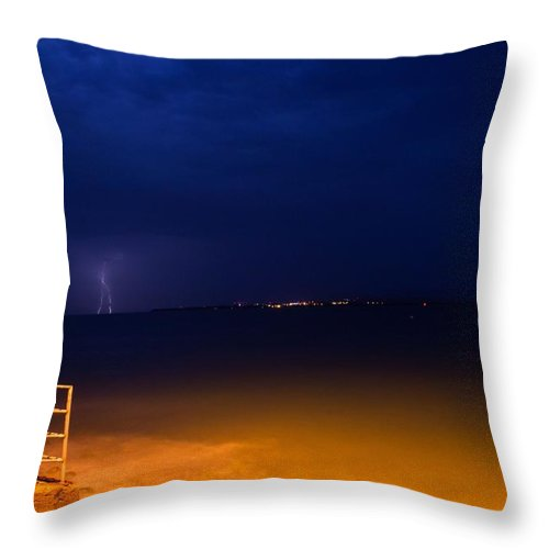 Guantanamo Bay Throw Pillow featuring the photograph Ferry Landing 22 by Christian Schroeder