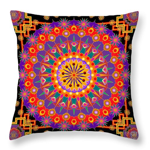 Digital Throw Pillow featuring the digital art Festival Of Lights 2013 by Kathryn Strick
