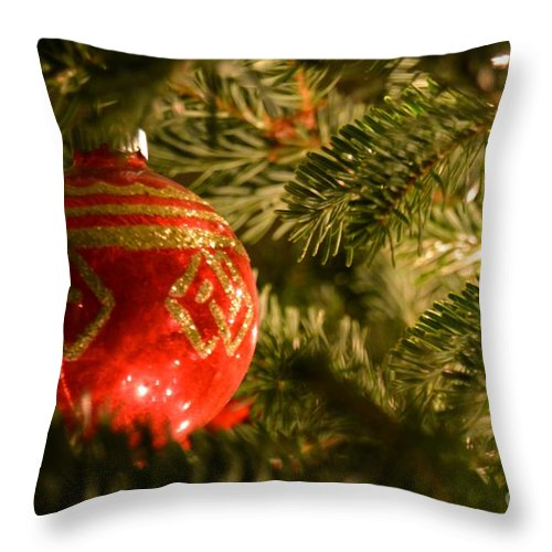 Christmas Throw Pillow featuring the photograph Festive 2 by Debra Beaupre