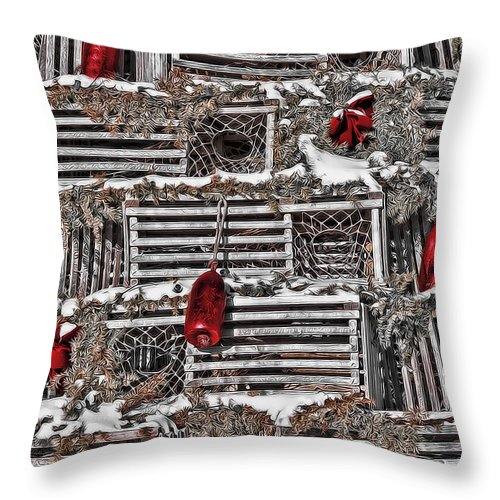 Bows Throw Pillow featuring the photograph Festive Blend by Richard Bean