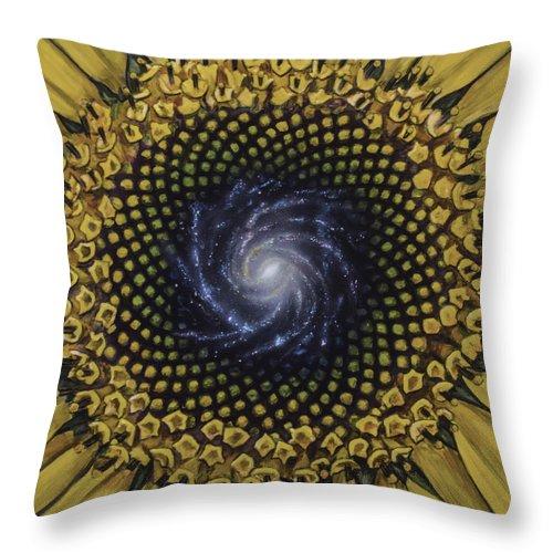 Throw Pillow featuring the painting Fibonaccis Mandela V.2 by Simon Kregar