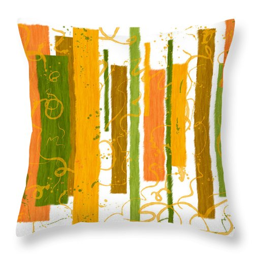 Abstract Throw Pillow featuring the digital art Fibrous by Elaine Greywalker