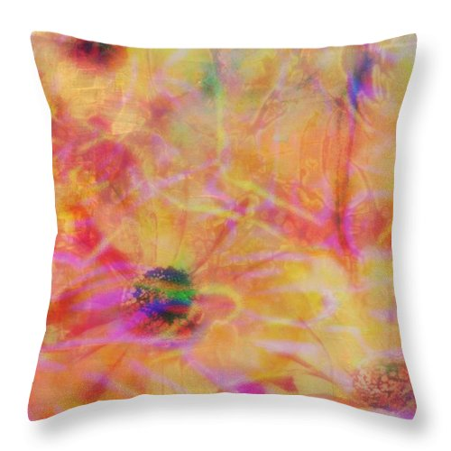 Romantic Throw Pillow featuring the mixed media Field Of Dreams by Wendie Busig-Kohn