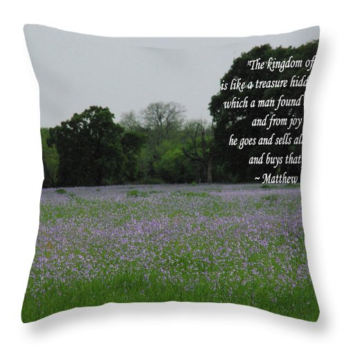 Catholic Throw Pillow featuring the photograph Field Of Treasure by Robyn Stacey