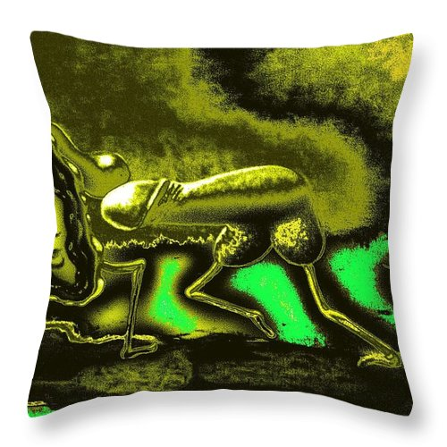 Genio Throw Pillow featuring the mixed media Fiery Love by Genio GgXpress