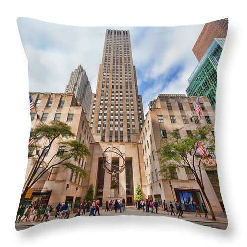 Fifth Avenue Throw Pillow featuring the photograph Fifth Avenue by June Marie Sobrito