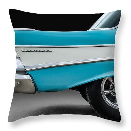 Car Throw Pillow featuring the digital art Fifty-seven by Douglas Pittman