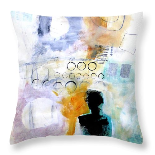 Keywords: Abstract Throw Pillow featuring the painting Figure 1 by Jane Davies