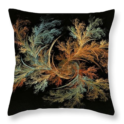 Theory Of Everything Throw Pillow featuring the digital art Filigree Manifold by Doug Morgan