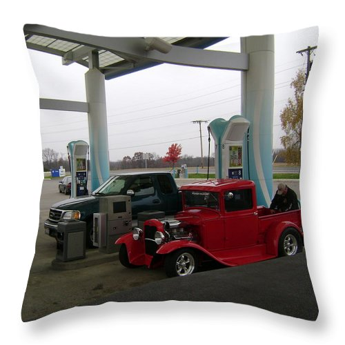 Throw Pillow featuring the photograph Filling Up by R A W M