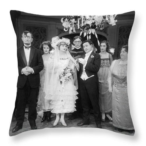 1920 Throw Pillow featuring the photograph Film Still: By Golly, 1920 by Granger