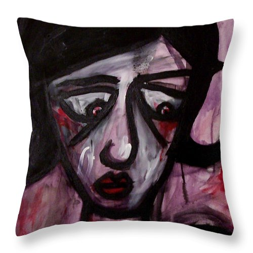 Portait Throw Pillow featuring the painting Finals by Thomas Valentine