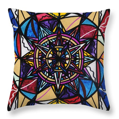 Financial Freedom Throw Pillow featuring the painting Financial Freedom by Teal Eye Print Store