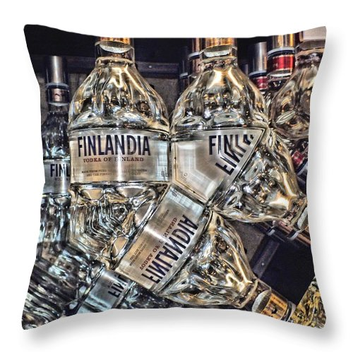 Bottles Throw Pillow featuring the digital art Finlandia by John Holfinger