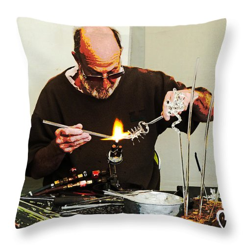 Gypsy Throw Pillow featuring the photograph Fire And Glass by Steve Taylor