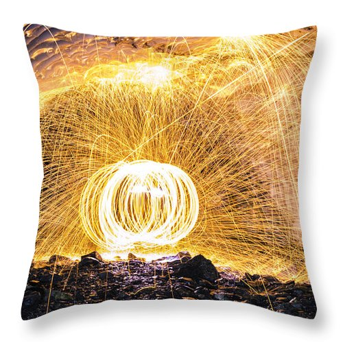 Washington Throw Pillow featuring the photograph Fire And Ice II by Ryan McGinnis