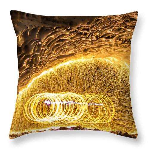 Washington Throw Pillow featuring the photograph Fire And Ice by Ryan McGinnis