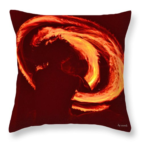 Sunrise Throw Pillow featuring the photograph Fire by Athala Carole Bruckner